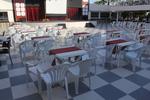 Промоция на Пластмасова маса за ресторант, за открити пространства