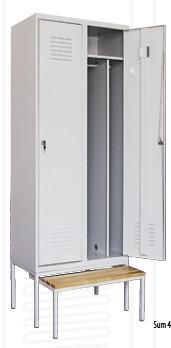 Промоция на Метален гардероб Sum 420 + пейка Pw421