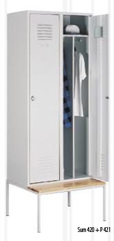 Промоция на Метален гардероб Sum 420 + пейка P421