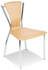 Промоция на Кафе стол DORINO wood  chrome
