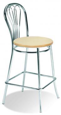 Промоция на Бар стол VENUS hocker wood chrome
