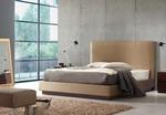 Промоция на Мебели - тапицирано легло с естествена кожа по поръчка