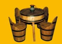 Промоция на Дървени маси и столове за заведения от бурета