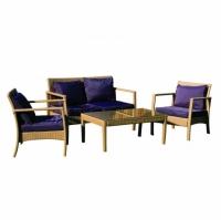 Промоция на Комплект диван с фотьойли и маса за кафе