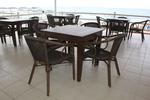 Промоция на Столове от бамбук голямо заведение