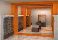 Промоция на Интериорен дизайн на магазини за GSM