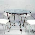 Промоция на маса стъклена от ковано желязо 3871-3171