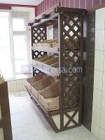 Промоция на Дървен стелаж за хляб и хлебни изделия