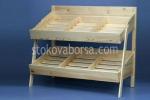 Промоция на Стелажи за хляб и хлебни изделия от дървен материал