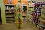 Промоция на стелажи за детска козметика по поръчка