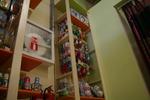 Промоция на стелаж за бебешки аксесоари по поръчка