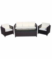 Промоция на Ратанов комплект с  диван 3-ка