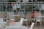 Промоция на Топ качество на маси и столове от светъл ратан
