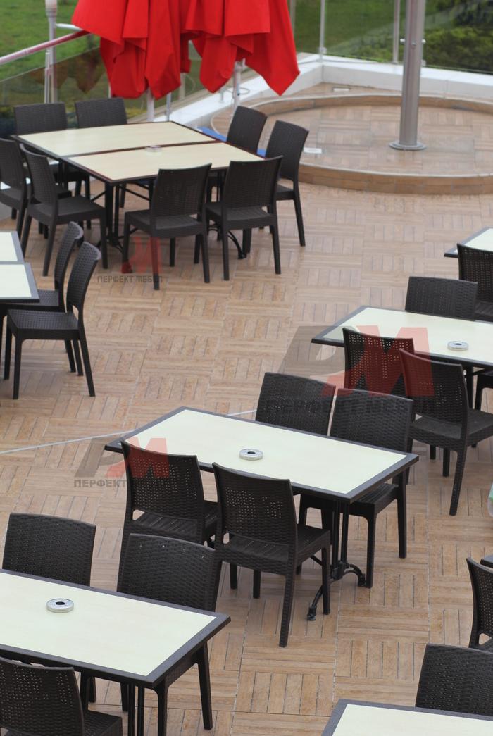 Промоция на маси и столове от изкуствен ратан