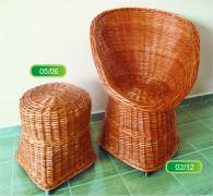 Промоция на Комплект стол и табуретка от ракита