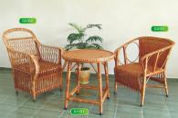 Промоция на Комплект маса и 2 стола от ракита