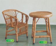 Промоция на Комплект детска маса и стол от ракита