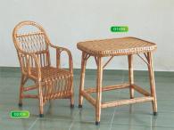 Промоция на Комплект детска правоъгълна маса и стол от ракита