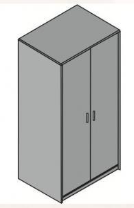Промоция на Офис гардероб 80/58/162см